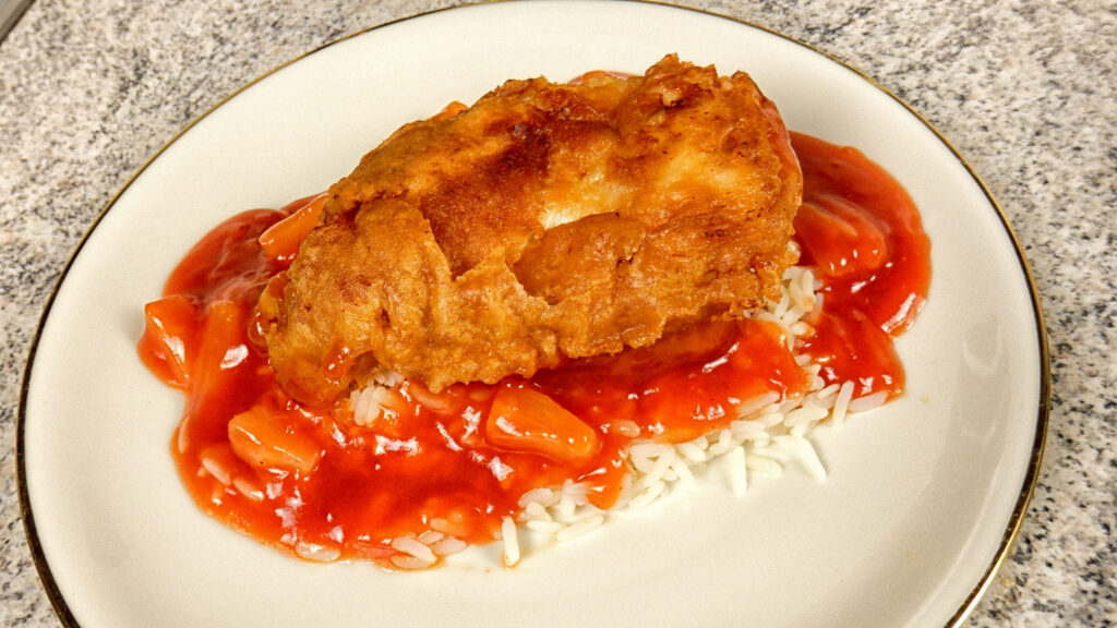 Gebackenes Hähnchen mit Süß Saurer Sauce
